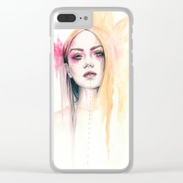Maeve - watercolour illustration Clear iPhone Case