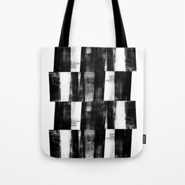 Black and White Handmade Graphic Abstract Pattern Tote Bag