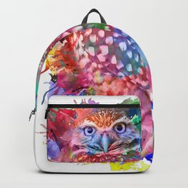 Rainbow owl Backpack