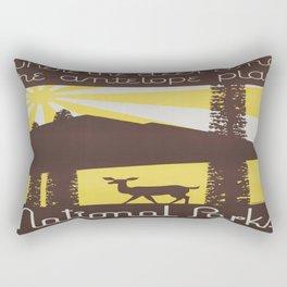 Vintage poster - National parks Rectangular Pillow