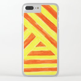 Bright Sunny Stripes Clear iPhone Case