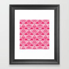 Flamingo Damask Framed Art Print