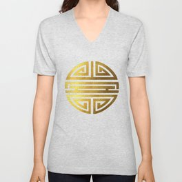 Four blessings Gold Unisex V-Neck