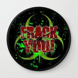 Frack You! Wall Clock