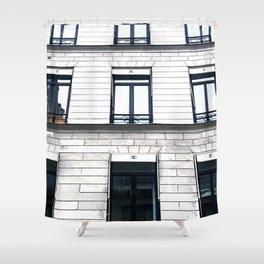 coco boutique paris building Shower Curtain