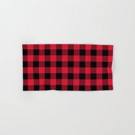 Buffalo Plaid Red Black Lumberjack Pattern Hand & Bath Towel