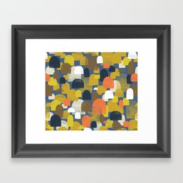 Fall Woods M+M Navy Blue By Friztin Framed Art Print