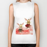 pigs Biker Tanks featuring Flying pigs by Annabellerockz