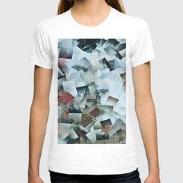 Geometric Stacks Turquois Cranberry T-shirt