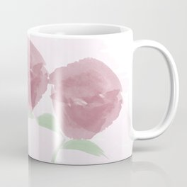 Watercolor Pink Roses Bouquet Coffee Mug