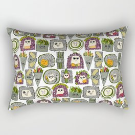 veggie sushi white Rectangular Pillow