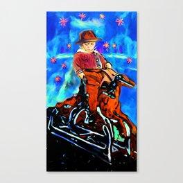 Boy on a Horse Canvas Print