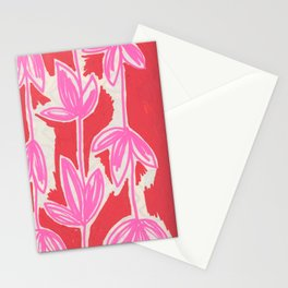 Red and Pink Sketchbook Botanical Stationery Cards