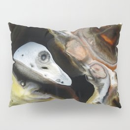 Janus - God of Beginnings, transitions, and duality - Original Abstract Painting Pillow Sham