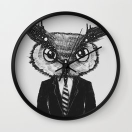 In Search of Wisdom (A Portrait of Perseverance) Wall Clock