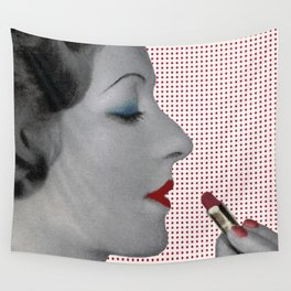 BOLD LIPSTICK and LOVE Wall Tapestry