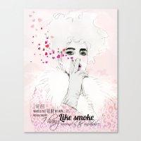 fashion illustration Canvas Prints featuring FASHION ILLUSTRATION 9 by Justyna Kucharska