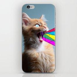 trippy cat iPhone Skin