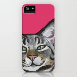 Whiskers the Tabby Cat iPhone Case