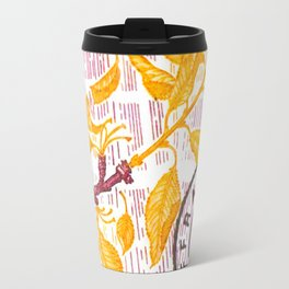 Branch of a cherry tree in autumn Travel Mug