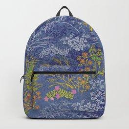 Vintage Japanese floral pattern Backpack