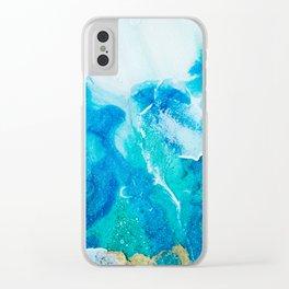 "Tides of Change | ""Split Tide"" (2) Clear iPhone Case"