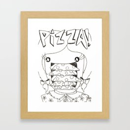PIZZA! Framed Art Print