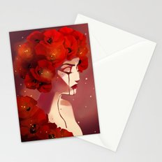 Red Poppy Girl Alternate Stationery Cards