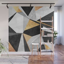 Geometry / Gold Wall Mural
