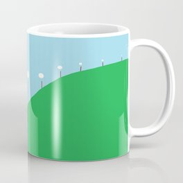 Abstract Landscape - Lights on the Hill Coffee Mug