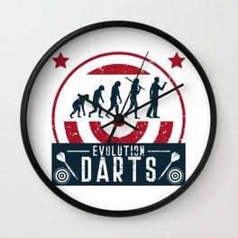 Evolution Darts Wall Clock