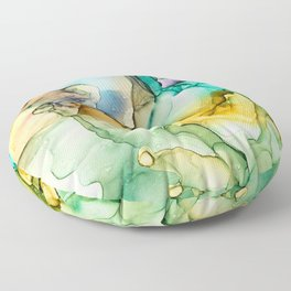 Caribbean Beach- Alcohol Ink Abstract Painting Floor Pillow