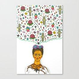 FRIDA KHALO TRIBUTE Canvas Print