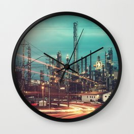 Road to the Refinery Wall Clock