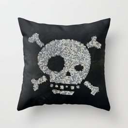Confetti's skull Throw Pillow