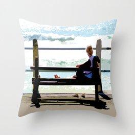 Sea Gaze Throw Pillow