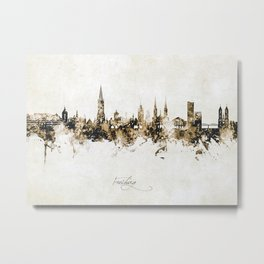 Freiburg Skyline Metal Print