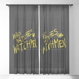 Who watches the watchmen Sheer Curtain