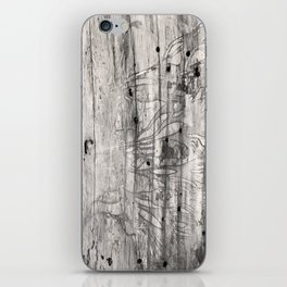 Vine Scars Wood Tree Trunk Pacific Northwest Rainforest Spooky Pattern iPhone Skin