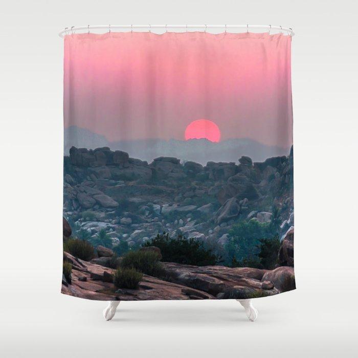 Otherworldly Sunrise Of Hampi, India Shower Curtain