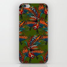 rooster ink green iPhone & iPod Skin