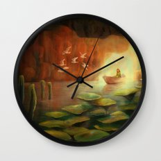 Into the Cave Wall Clock