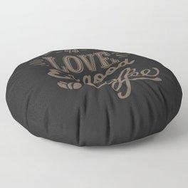Love Coffee Floor Pillow