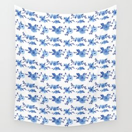 CB x SK BLUE FLORAL Wall Tapestry