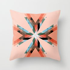 Three Triangles Geometric in Coral Throw Pillow