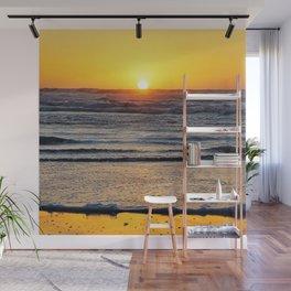Yellow Beach Sunset Wall Mural