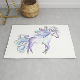 Cute Watercolour Unicorn Rug