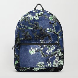 Vincent Van Gogh Almond Blossoms Dark Blue Backpack
