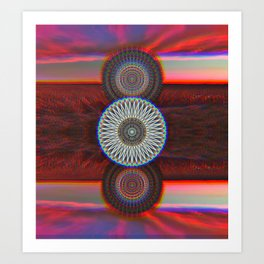 Three Mandalas Art Print