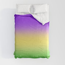 Mardi Gras Ombré Gradient Comforters